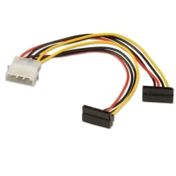 0.15m 2 x SATA Power Adapter Cable