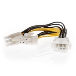0.15m PCIe 6 Pin Female to 2 x PCIe 6 Pin Male Splitter Cable