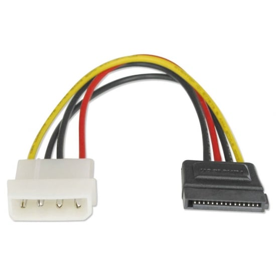 0.15m SATA Power Connector to LP4 Power Cable