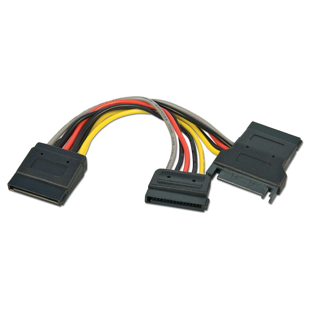 0 15m Sata Power Splitter Cable From Lindy Uk