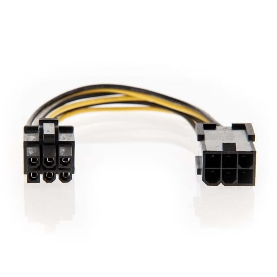 0.2m PCIe 6 Pin Female to Male Extension Cable