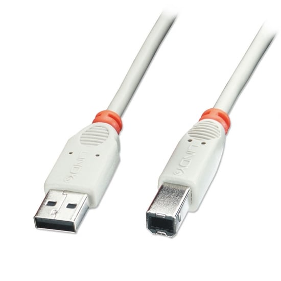 0.2m USB 2.0 Cable - Type A To B, Grey
