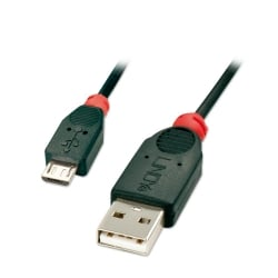 0.2m USB 2.0 Cable - Type A to Micro-B, Black