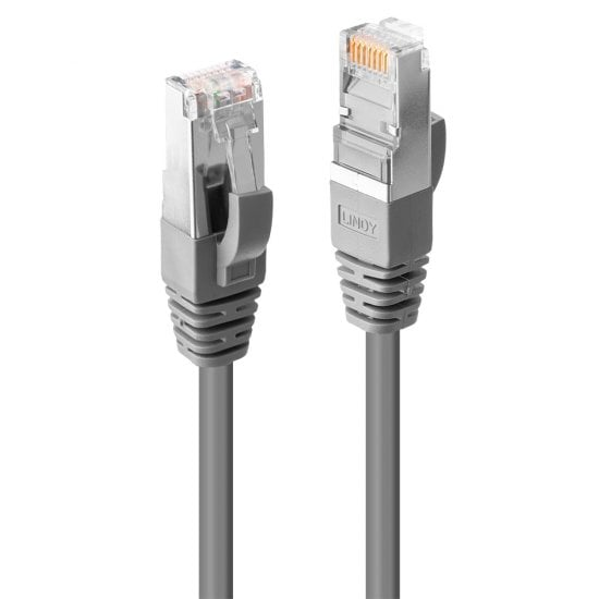 0.3m Cat.6 S/FTP LSZH Network Cable, Grey