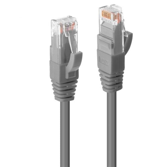 0.3m Cat.6 U/UTP LSZH Network Cable, Grey