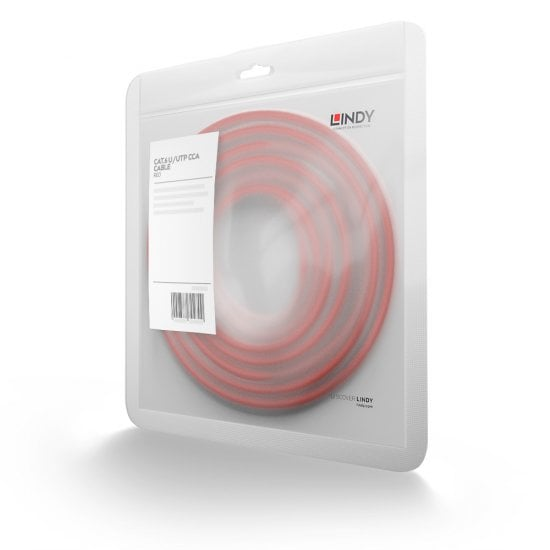 0.3m Cat.6 U/UTP Network Cable, Red