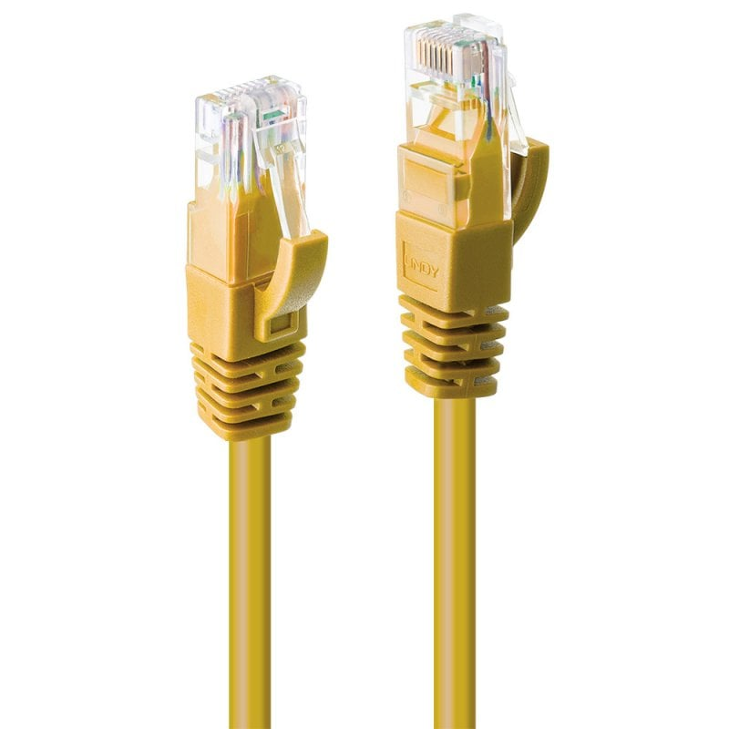 0.3m Cat.6 U/UTP Network Cable, Yellow