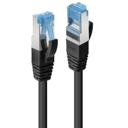 0.3m Cat.6A S/FTP LSZH Network Cable, Black