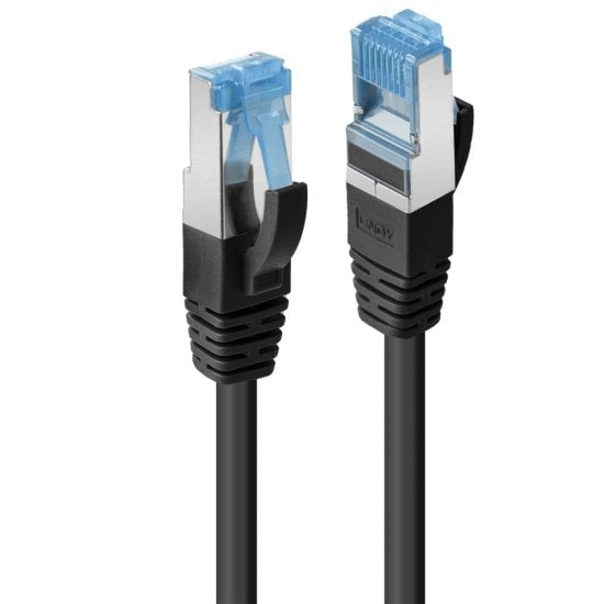 0.3m Cat.6A S/FTP TPE  Network Cable, Black
