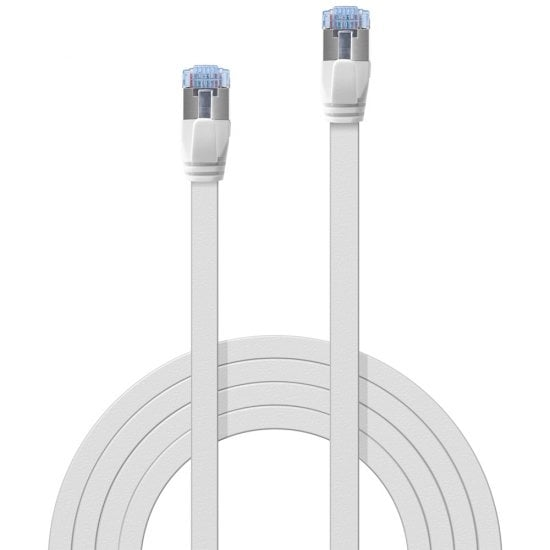 0.3m Cat.6A U/FTP Flat Network Cable, White
