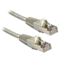 0.3m CAT5e F/UTP Snagless Network Cable, Grey