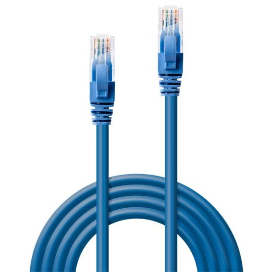 0.3m CAT6 U/UTP Snagless Gigabit Network Cable, Blue