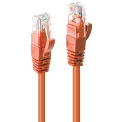 0.3m CAT6 U/UTP Snagless Gigabit Network Cable, Orange