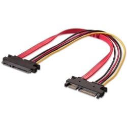 0.3m Internal SATA Extension Cable 22 Pin Male / Female Extension