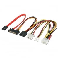 0.3m SATA Extension/Splitter Cable - Combined Data & Power, Internal