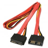 0.3m Slimline SATA Extension Cable (Combined Data & Power)