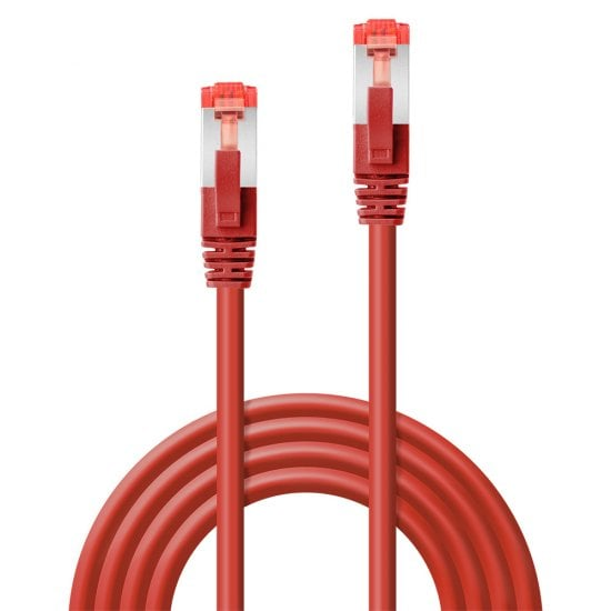 0.5m Cat.6 S/FTP Network Cable, Red