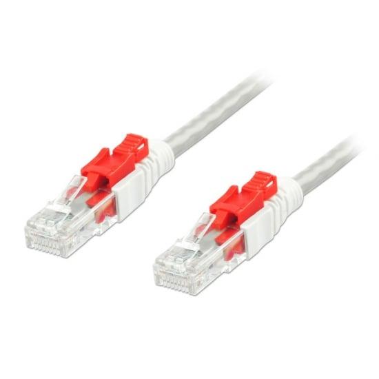 0.5m CAT6 U/UTP Locking Gigabit Network Cable, Grey