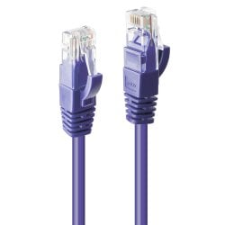 0.5m CAT6 U/UTP Snagless Gigabit Network Cable, Purple