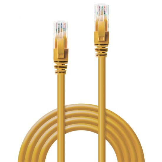 0.5m CAT6 U/UTP Snagless Gigabit Network Cable, Yellow
