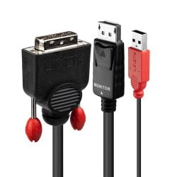 0.5m DVI-D (with USB) to DP Active Adapter Cable, Black