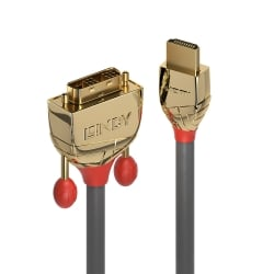 0.5m HDMI to DVI-D Cable, Gold Line
