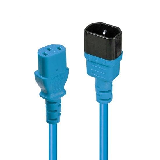 0.5m IEC Extension Cable, Blue