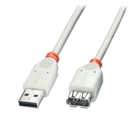0.5m USB 2.0 Extension Cable - Type A Male to Female, Grey