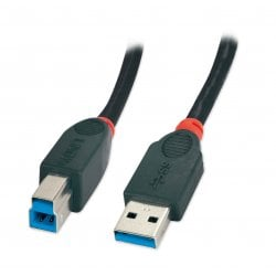 0.5m USB 3.0 Cable Type A Male to Type B Male, Black