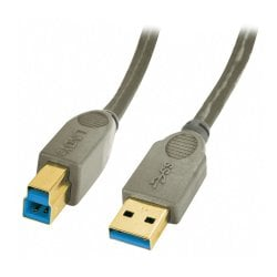 0.5m USB 3.0 Cable - Type A to B, Anthracite