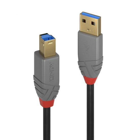 0.5m USB 3.0 Type A to B Cable, Anthra Line