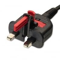1.8m Folding UK Plug to Fig. 8 Mains Power Lead