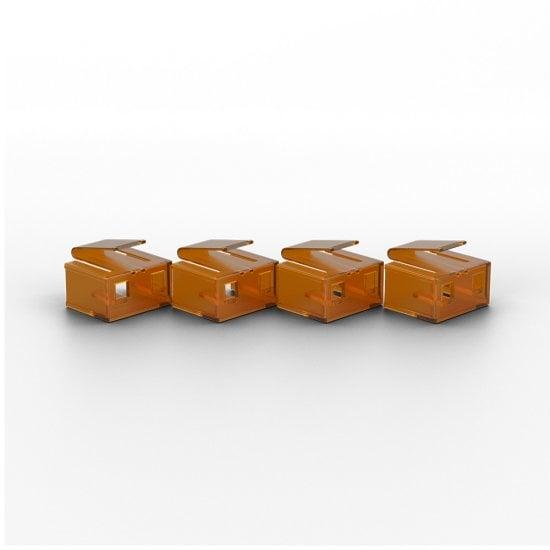10 x RJ-45 Port Blockers with Key, Orange