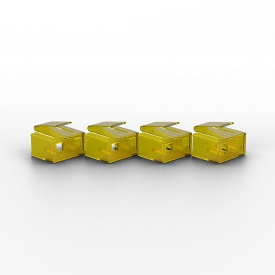 10 x RJ-45 Port Blockers with Key, Yellow