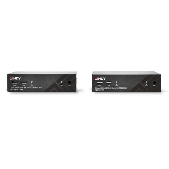 100m Cat.6 Dual Head HDMI, USB & RS-232 Extender