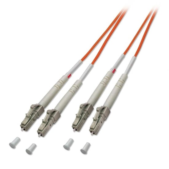 100m Fibre Optic Cable - LC to LC, 50/125µm OM2