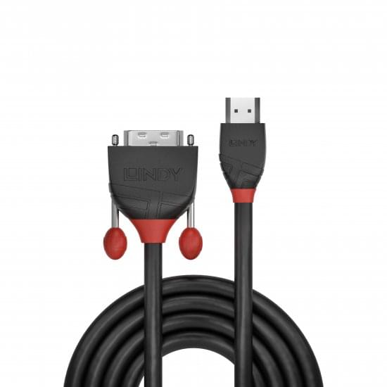 10m HDMI to DVI Cable, Black Line