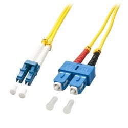 10m LC-SC OS2 9/125 Fibre Optic Patch Cable