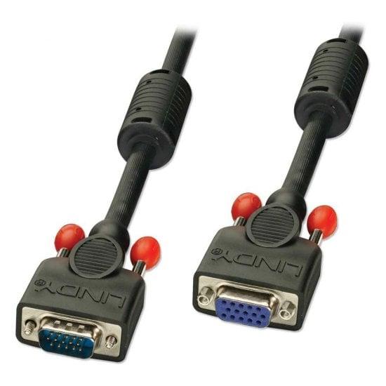 10m Premium VGA Monitor Extension Cable, Black