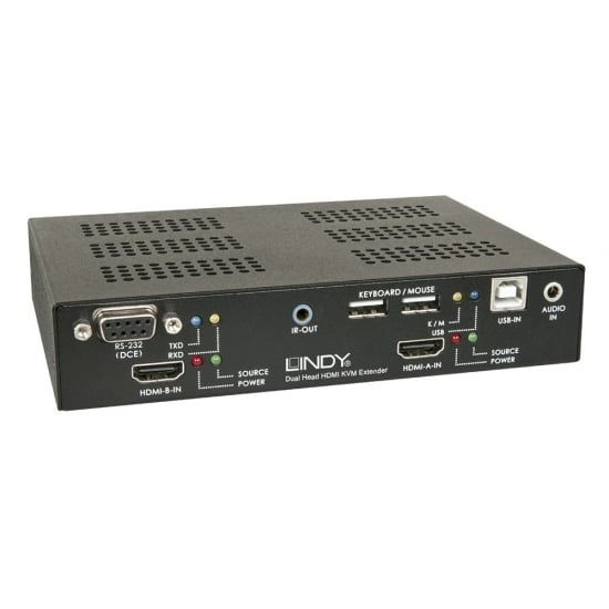 150m Cat.6 Dual Head HDMI, USB & RS232 Extender