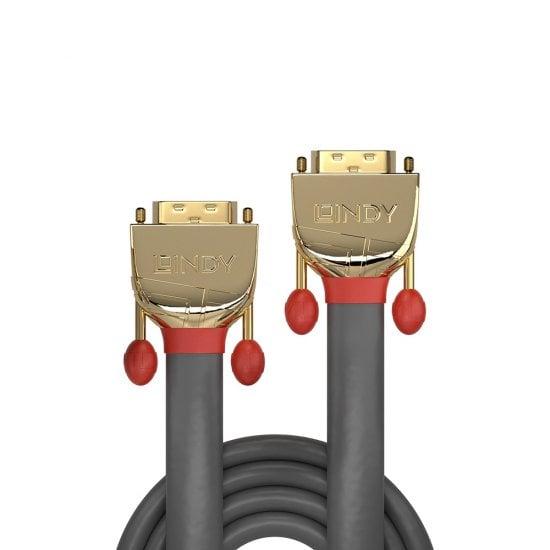 15m DVI-D Dual Link Cable, Gold Line