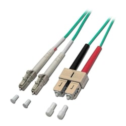 15m Fibre Optic Cable - LC to SC, 50/125µm OM3