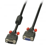 15m Premium SVGA Monitor Extension Cable, Black