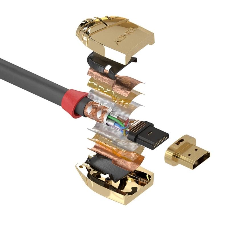 15m standard hdmi cable gold line from lindy uk. Black Bedroom Furniture Sets. Home Design Ideas