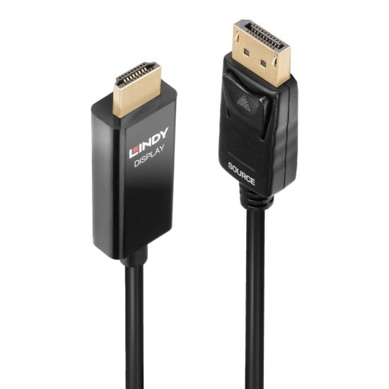 1m Active DisplayPort to HDMI Cable with HDR