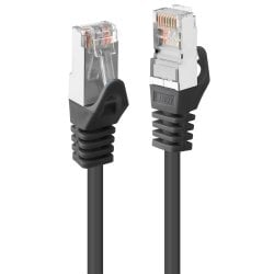 1m Cat.5e F/UTP Network Cable, Black