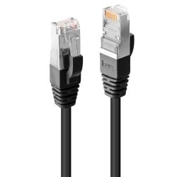 1m Cat.6 S/FTP LSZH Network Cable, Black