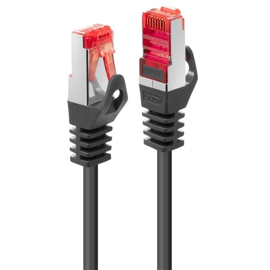 1m Cat.6 S/FTP Network Cable, Black