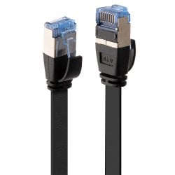 1m Cat.6A U/FTP Flat Network Cable, Black