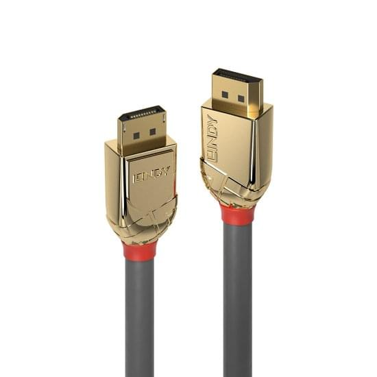 1m DisplayPort 1.4 Cable, Gold Line